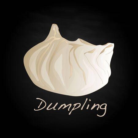 Dumpling illustration. Isolated. Stock Illustration - 69665791