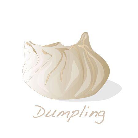 Dumpling illustration. Isolated. Stock Illustration - 69665792