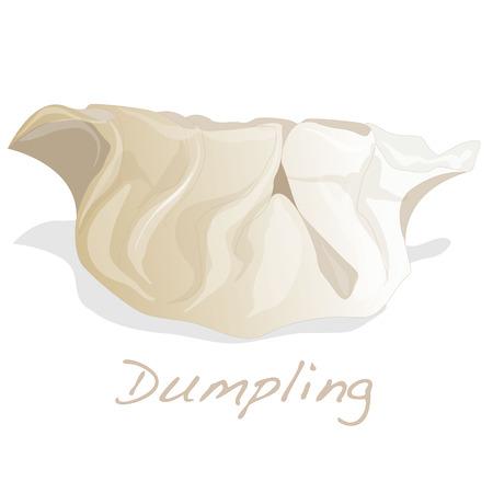 Dumpling illustration. Isolated. Stock Illustration - 69645186