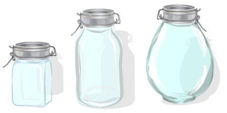 Jar illustration isolated