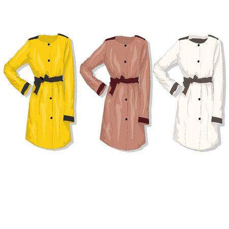 Female coat. Illustration isolated. Stock Photo