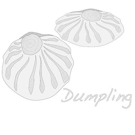 Dumpling illustration. Isolated. Stock Illustration - 70044151