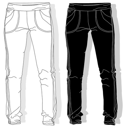 Sport trousers  pants isolated. Illustration