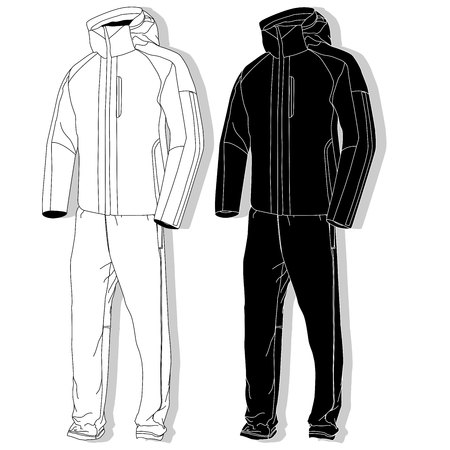 Sport suit Fashion set isolated.