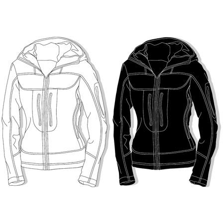 Sport jacket fashion set on white background.