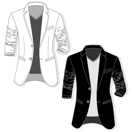 A Vector man jacket monochrome set.