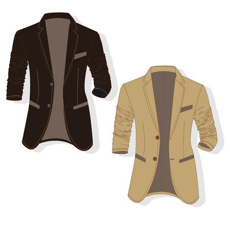 Vector man jacket illustration set. Illustration