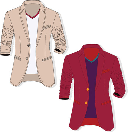 Vector man jacket illustration set. Illusztráció