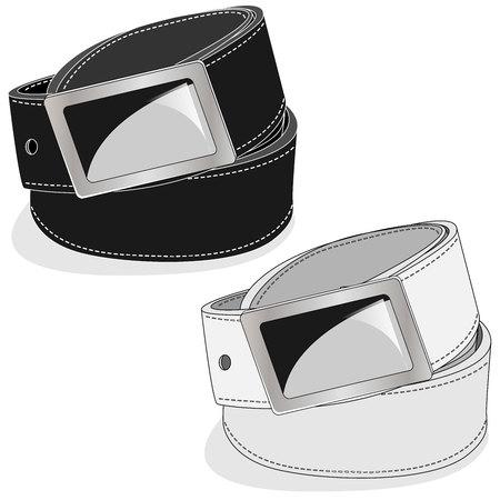 Belt illustration on white background