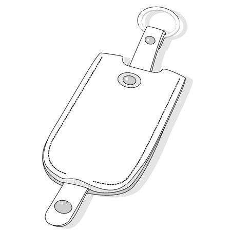 Key holder vector illustration set Banco de Imagens - 81185281