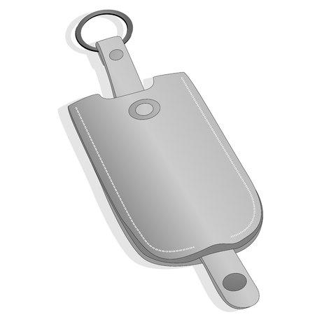 Key holder vector illustration set