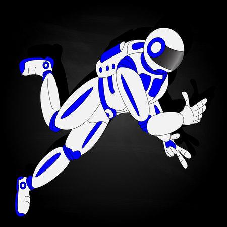 우주 비행사, 공간에서 우주 비행사의 벡터 일러스트 레이 션