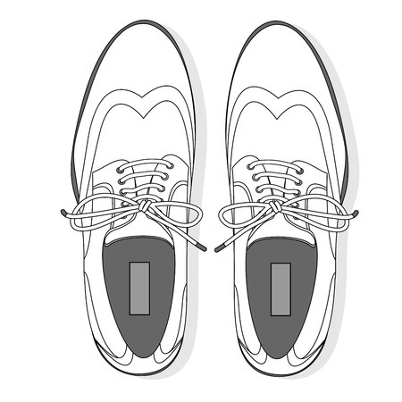 Men shoes illustration isolated set