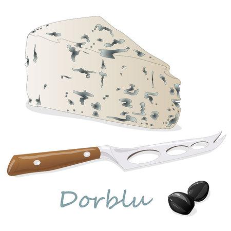 ブルーチーズ コレクション - 分離した dorblu 図 写真素材 - 88849694