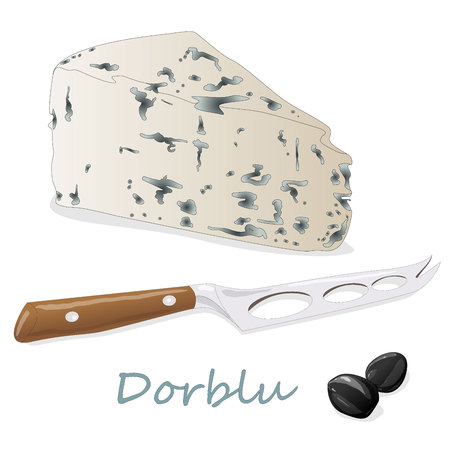Blue cheese collection - dorblu illustration isolated Stock fotó - 88849694