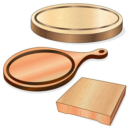 Kitchen cooking board on a white background, vector illustration.