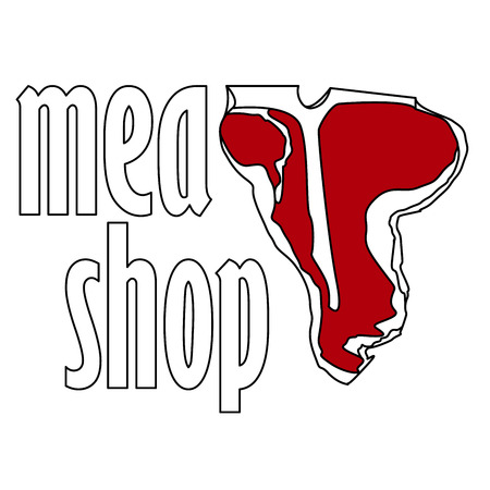 Steak House or Meat Store Labels, Emblems,  Templates. Signs Set. Isolated.