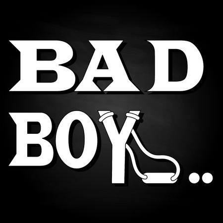 Bad boy.Typography slogan for t-shirts, hoodies. Isolated.