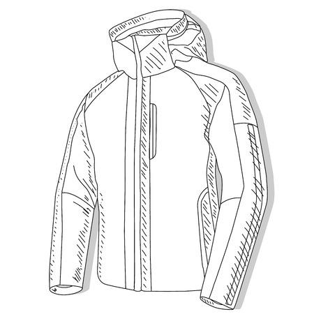 Sport jacket. Sport jacket fashion vector illustration on white background.