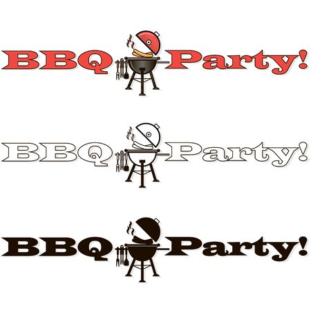 Barbecue, grill, bbq steak vector signes and emblems. Illustration of bbq  and grill isolated on white.