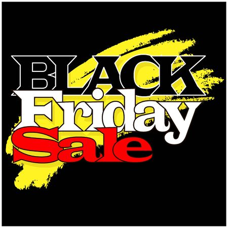 Black Friday illustration. Promo design template. Vector illustration isolated.