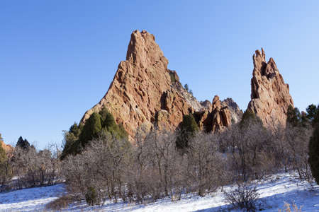 Garden of the Gods Park in Colorado Springs, Colorado Stock Photo