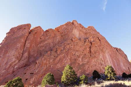 Garden of the Gods Park in Colorado Springs, Colorado Banco de Imagens