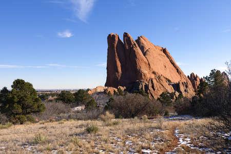 geological formation: Garden of the Gods Park in Colorado Springs, Colorado Stock Photo