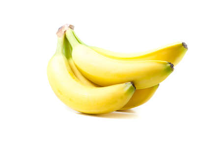 banans on white background