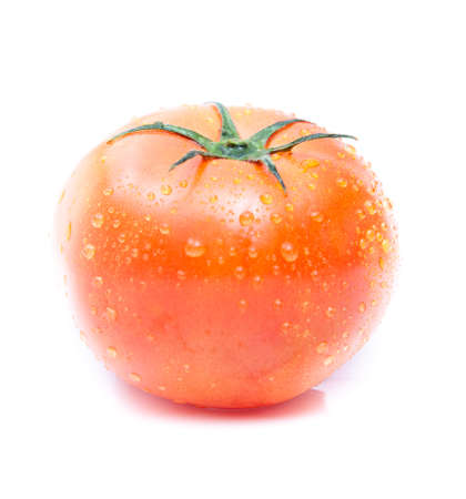 red tomato on white backgroung