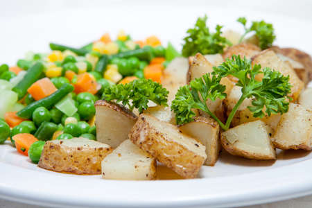 roast potato with vegetables