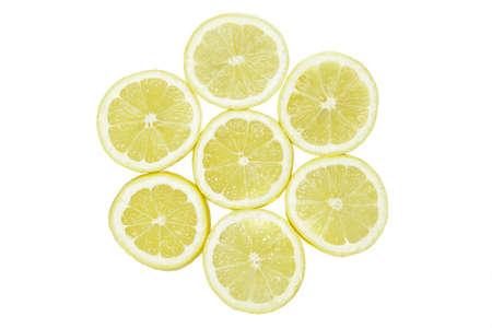 one single  yellow lemon on white background 版權商用圖片
