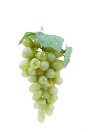 Fake plastic grapes banch on white background Stock Photo - 18012717