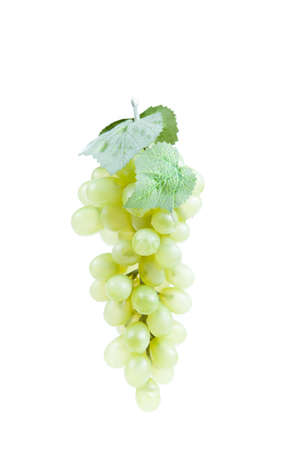 Fake plastic grapes banch on white background Stock Photo - 18012713