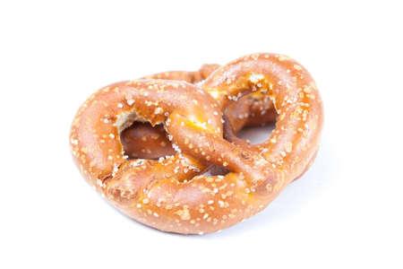 pretzel: Bavarian pretzel isolated on white background