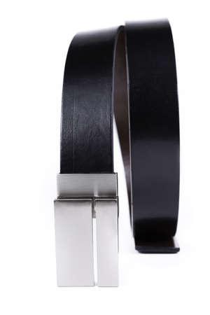 black belt Buckle isolated on white background Stock Photo