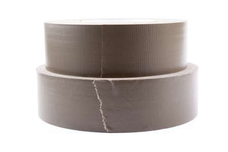 gaffer: two rolls of tape isolated on white background Stock Photo