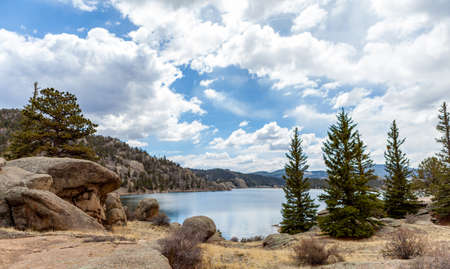 11 mile state park lake at colorado photo
