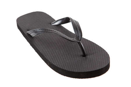 Black flip-flops isolated against a white background Stock Photo - 20284768