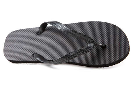 Black flip-flops isolated against a white background Stock Photo - 20284819