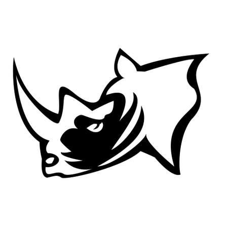 vector illustration of rhino head