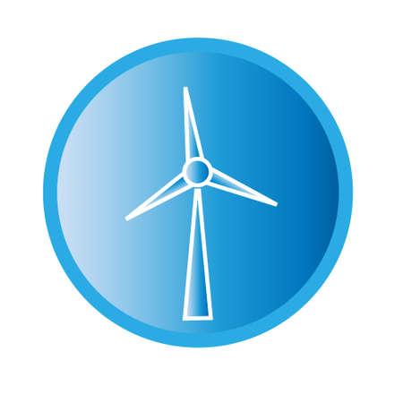 windpower: Vector illustration of wind turbine icon