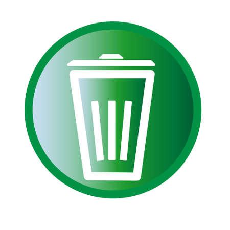 Vector illustration of trashbin icon Vettoriali