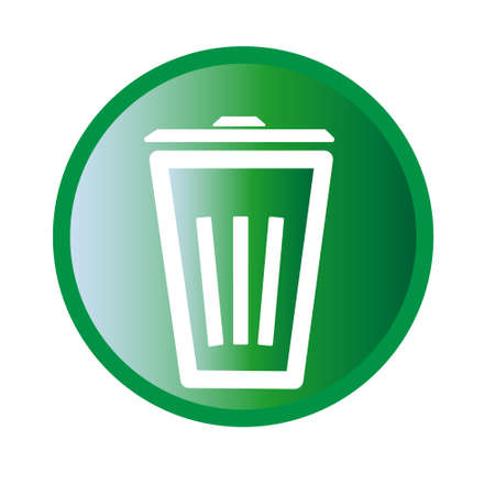 Vector illustration of trashbin icon Illustration