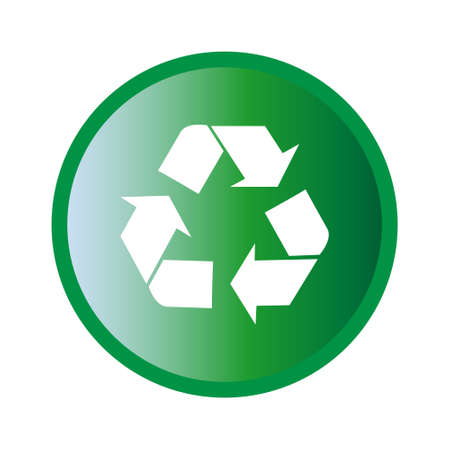 Vector illustration of green recycle symbol icon Ilustrace