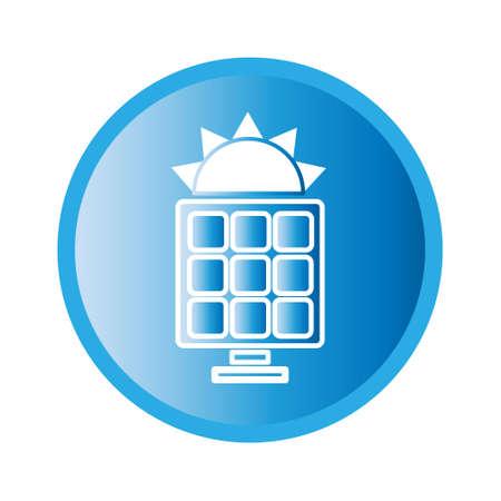 pane: Vector illustration of solar pane icon