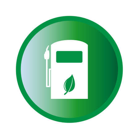Vector illustration of ecologic gas pump sign Vector