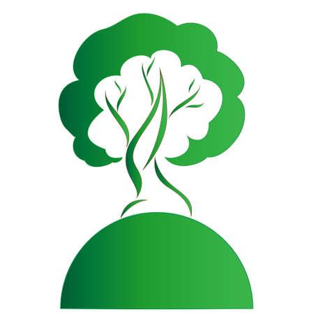 Vector illustration of Eco Tree, Isolated On White Background Illustration