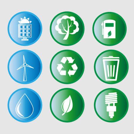 エコ エネルギー アイコンのベクトル イラスト
