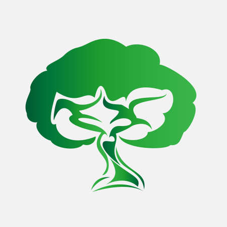 Vector illustration of Eco Tree, Isolated On White Background Stock Vector - 25661332